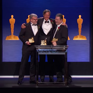 John Knoll, Thomas Knoll, and Mark Hamburg Accept Sci-Tech Award