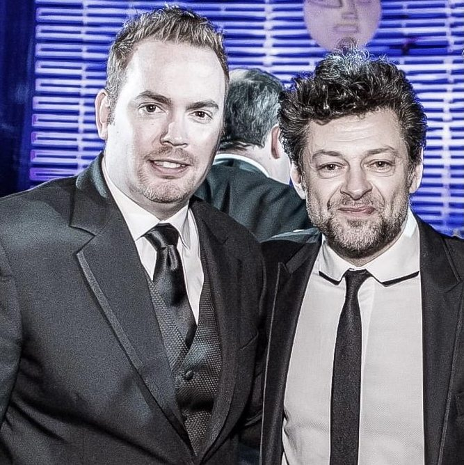 Jeff with Actor/Director Andy Serkis at the VES Awards.